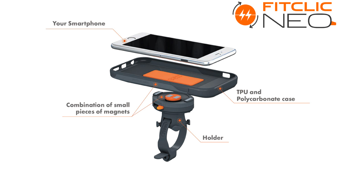 FitClic Neo is the perfect case to accompany you in your active and daily lives. Benefit from all your smartphone functionalities in any circumstances.